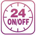 Cài đặt thời gian mở/tắt 24 giờ