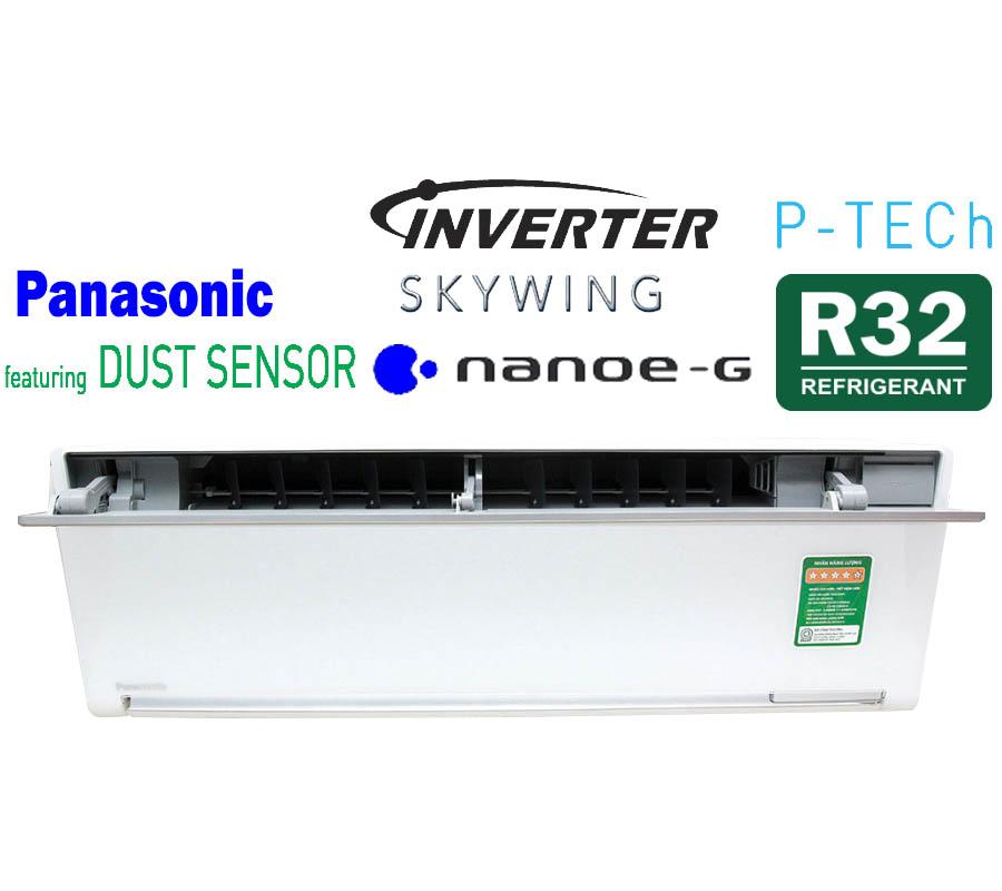 Điều hòa treo tường 1 chiều inverter sang trọng 12000Btu Panasonic CU/CS-VU12SKH-8